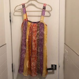 Alice and Olivia Silk Shift Dress Beaded Straps
